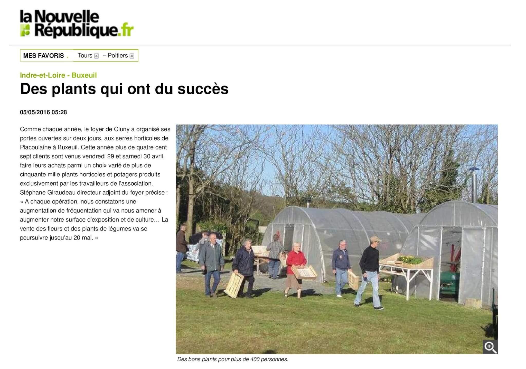 Des plants qui ont du succès - 05_05_2016 - La Nouvelle République Indre-et-Loire-page-001